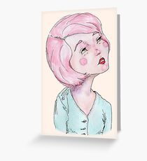 Candy coloured musing Greeting Card