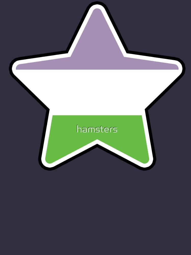 Large Genderqueer Star by hamsters