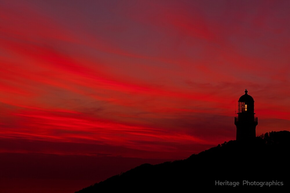The Lighthouse Among Blood Sky by Matt Jones