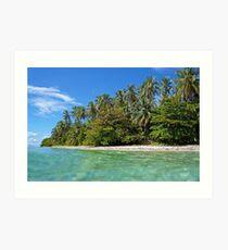 Beach with beautiful tropical vegetation Art Print