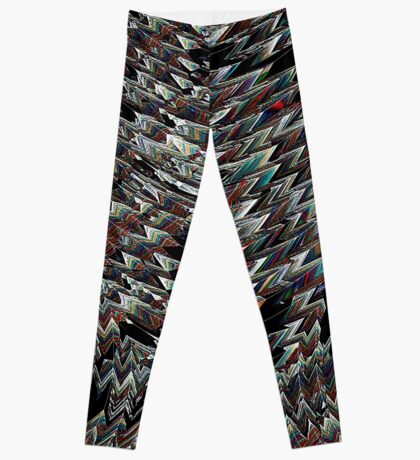 Tulip Field abstract bywhacky Leggings