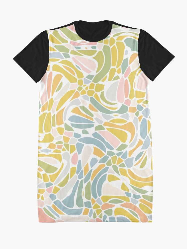 Alternate view of Pastel Pebbles Graphic T-Shirt Dress