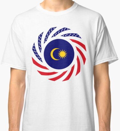 Malaysian American Multinational Patriot Flag Series Classic T-Shirt
