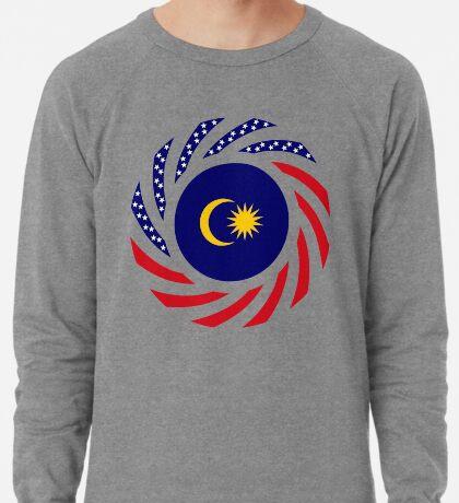 Malaysian American Multinational Patriot Flag Series Lightweight Sweatshirt