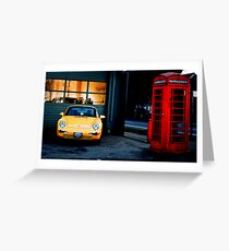 Yellow Car Greeting Card