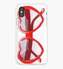 Heart-Shaped Sunglasses in Watercolor - Trendy/Summer/Hipster Style iPhone Case
