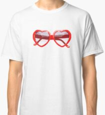 Heart-Shaped Sunglasses in Watercolor - Trendy/Summer/Hipster Style Classic T-Shirt