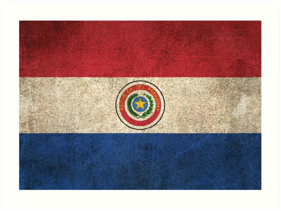 Old and Worn Distressed Vintage Flag of Paraguay by jeff bartels