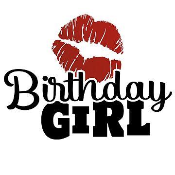 Birthday birthday child kissing girl woman birthday gift idea by Rueb