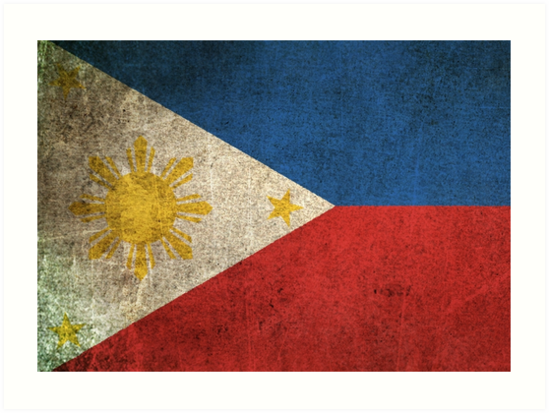 Old and Worn Distressed Vintage Flag of The Philippines by jeff bartels