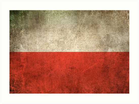 Old and Worn Distressed Vintage Flag of Poland by jeff bartels
