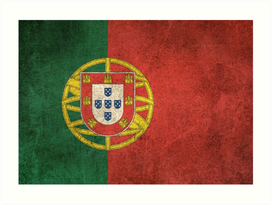 Old and Worn Distressed Vintage Flag of Portugal by jeff bartels