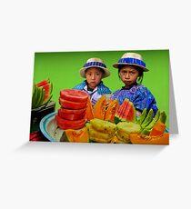 FRUIT STAND - GUATEMALA Greeting Card