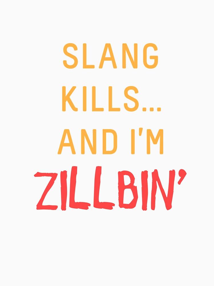 Slang Kills... orange/red by shirtsforteens