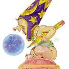 Watercolor Wizard Baby by HAJRA MEEKS