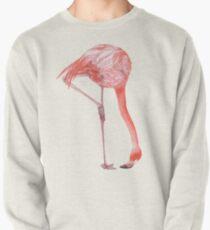 Watercolor Flamingo  Pullover Sweatshirt