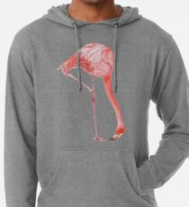 Watercolor Flamingo  Lightweight Hoodie