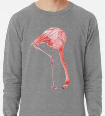 Watercolor Flamingo  Lightweight Sweatshirt