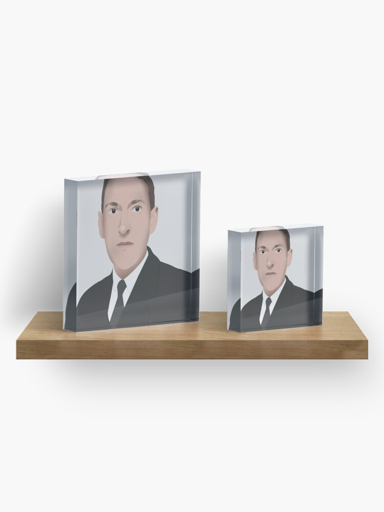Alternate view of H.P. LOVECRAFT Illustration Acrylic Block
