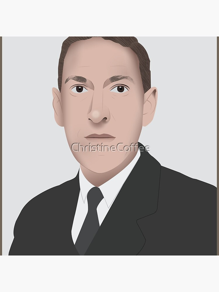 H.P. LOVECRAFT Illustration by ChristineCoffee