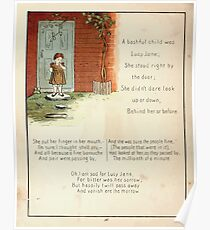 The Glad Year Round for Boys and Girls by Almira George Plympton and Kate Greenaway 1882 0046 A Bashful Child Poster