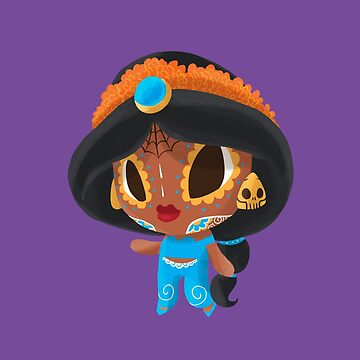 A Whole New Princess Muerto - Day of the Dead Sugar Skull by abowersock