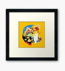 Gesichter - Mac Miller Gerahmtes Wandbild