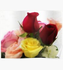 Mixed Cut Roses 2 Poster