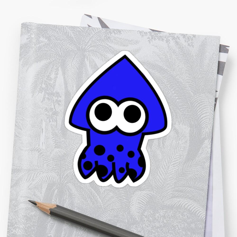 Splatoon Blue Squid by paigep605