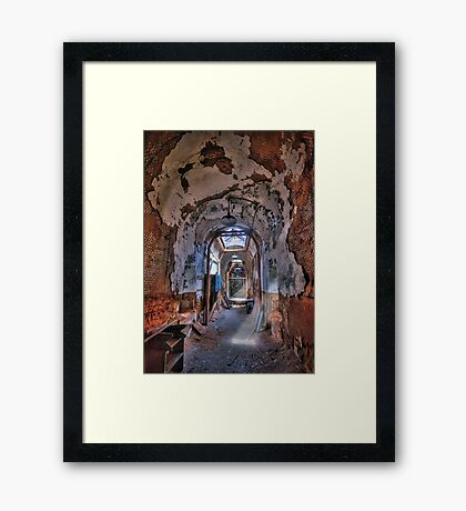Holes in the Walls Framed Print