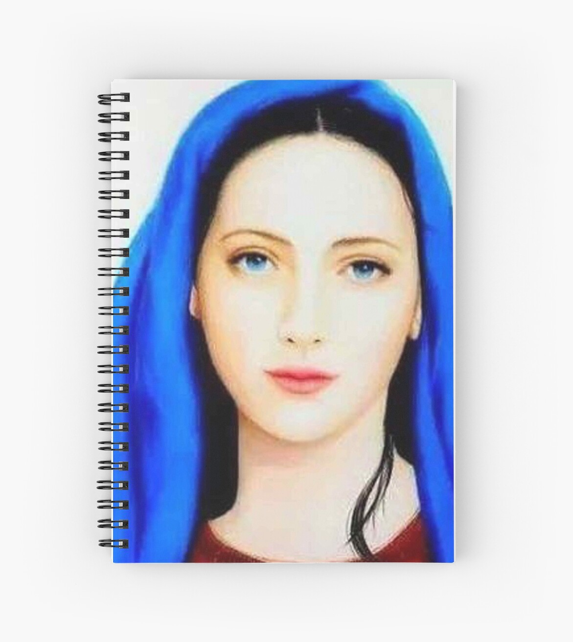 Mother marymother of jesus christmother of godst marybeautiful mother maryfaithcatholicchristian spiral notebook