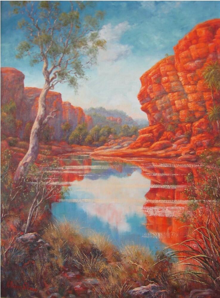 Kimberley Lagoon by Allison  Shaw