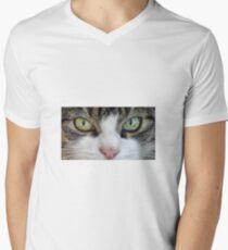 Cat Stare Down Men's V-Neck T-Shirt