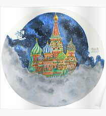 Russian Castle & Flying Castle Poster