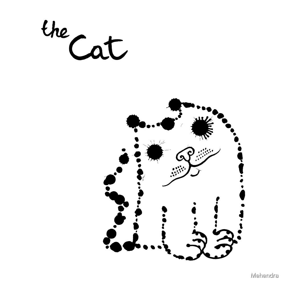 Ink splashes cat by Mehendra