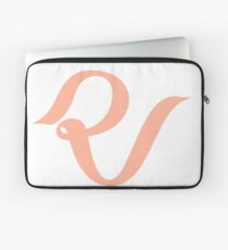Rotes Samt-Logo Laptoptasche