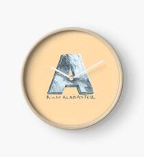 A steht für Alabaster Uhr