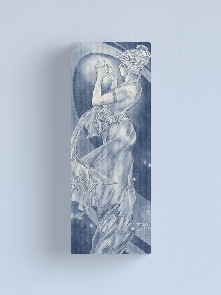 Alternate view of Indigo Mucha Star Canvas Print