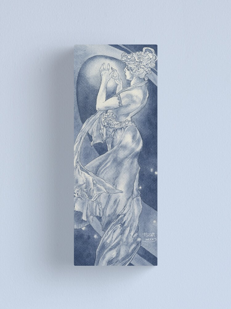 Alternate view of Indigo Mucha Star Canvas Print