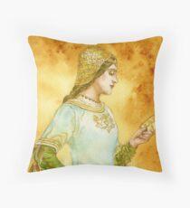 Lady Reading Throw Pillow