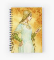 Lady Reading Spiral Notebook