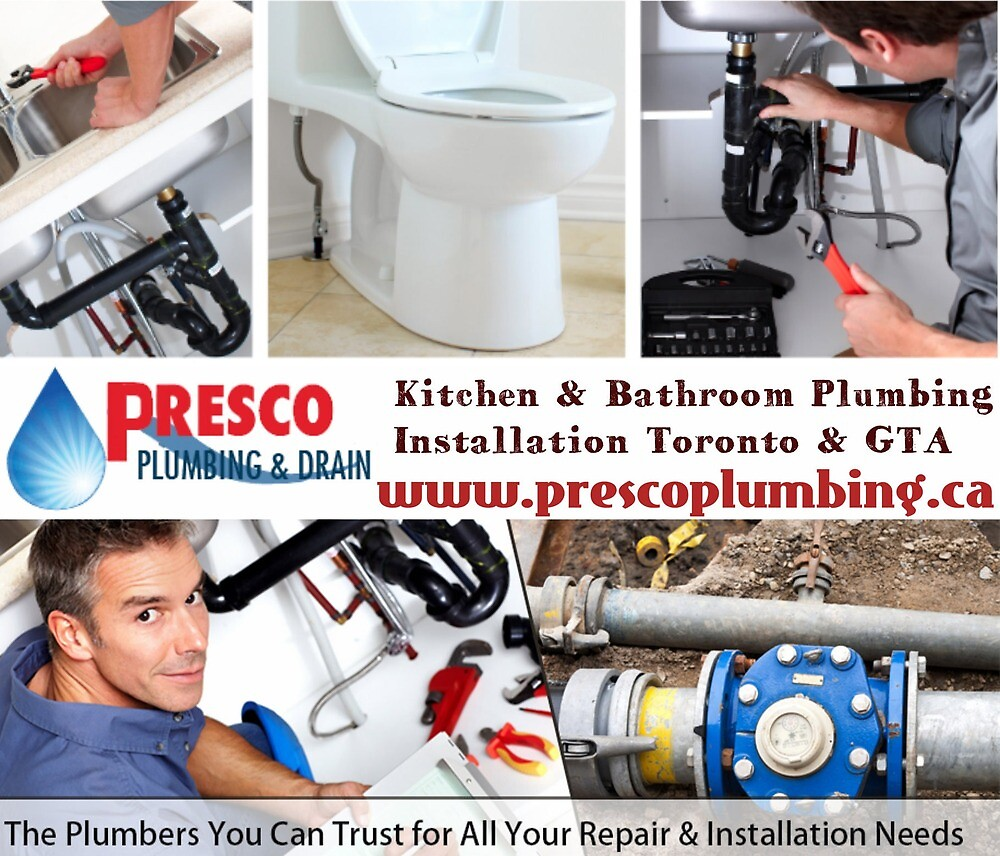 Kitchen & Bathroom Plumbing Installation Toronto & GTA by Presco Plumbing