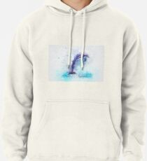 Dolphin Illustration Pullover Hoodie