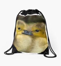 Baby Duck Love Drawstring Bag