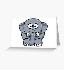 Elephant Illustration Greeting Card