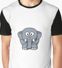 Elephant Illustration Graphic T-Shirt