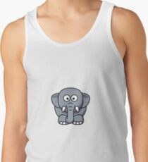 Elephant Illustration Men's Tank Top