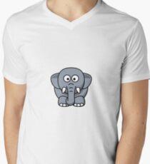 Elephant Illustration Men's V-Neck T-Shirt
