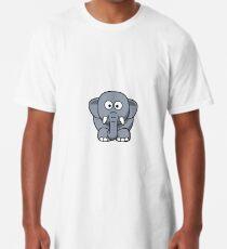Elephant Illustration Long T-Shirt