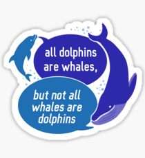 Whales, Toothed & Otherwise Glossy Sticker